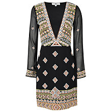 Buy True Decadence Embroidered Tunic Dress, Black/Rust Online at johnlewis.com