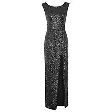Buy True Decadence Sequin Slit Maxi Dress, Black Online at johnlewis.com