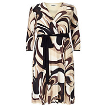 Buy Studio 8 Zoe Wrap Front Swirl Dress, Brown/Multi Online at johnlewis.com