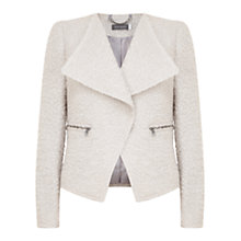 Buy Mint Velvet Zip Detail Jacket, Cream Online at johnlewis.com