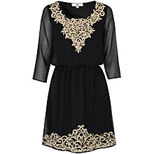 Buy True Decadence Embroidered Dress, Black Online at johnlewis.com