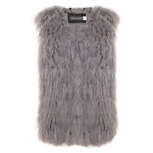 Buy Mint Velvet Faux Mongolian Fur Gilet, Grey Online at johnlewis.com