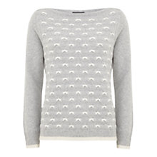 Buy Mint Velvet Stitch Detail Jumper, Grey Online at johnlewis.com