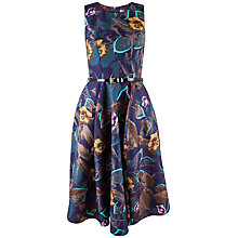 Buy Closet Textured Big Floral Dress, Multi Online at johnlewis.com