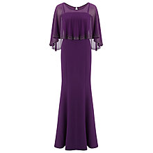 Buy Jacques Vert Embellished Cape Maxi Dress, Amethyst Online at johnlewis.com