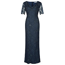 Buy Jacques Vert Lace Cowl Neck Maxi Dress, Navy Online at johnlewis.com