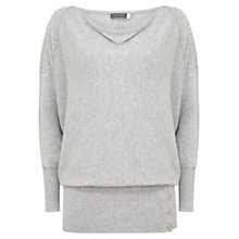 Buy Mint Velvet Sequin Batwing Knit, Grey Online at johnlewis.com