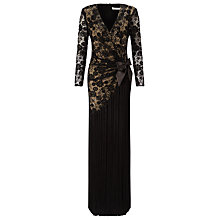 Buy Jacques Vert Cross Front Lace Tassel Maxi Dress, Black Online at johnlewis.com