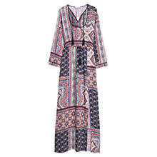 Buy Mango Folky Printed Gown, Dark Navy Online at johnlewis.com