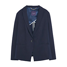 Buy Violeta by Mango Cotton Blazer, Navy Online at johnlewis.com