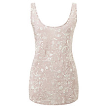 Buy East Embroidered Birds Silk Top, Rose Online at johnlewis.com