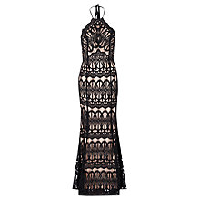 Buy True Decadence Halter Neck Lace Dress, Black Online at johnlewis.com
