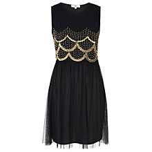 Buy True Decadence Scallop Skater Dress, Black Online at johnlewis.com
