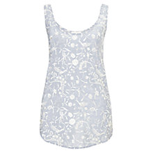 Buy East Bird of Paradise Embroidered Silk Tank Top, Dusk Online at johnlewis.com