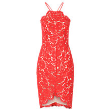 Buy True Decadence Halterneck Lace Dress, Red Online at johnlewis.com