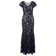 Buy Jacques Vert Cornelli Lace Maxi Dress, Navy Online at johnlewis.com