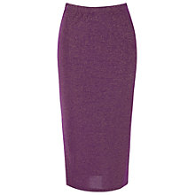 Buy True Decadence Slim Fit Midi Pencil Skirt, Purple Online at johnlewis.com