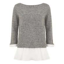 Buy Mint Velvet Peplum Knit, Multi Online at johnlewis.com