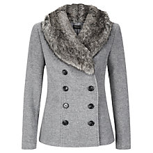 Buy Precis Petite Short Wool Coat, Light Grey Online at johnlewis.com
