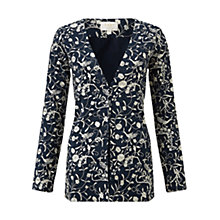Buy East Bird of Paradise Embroidered Silk Jacket, Navy Online at johnlewis.com