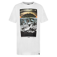 Buy Animal Boys' Epic Skull T-Shirt, White Online at johnlewis.com