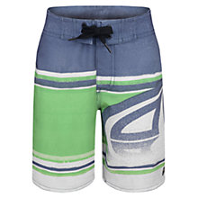Buy Animal Boys' Shred Stripe Board Shorts, Indigo/Green Online at johnlewis.com