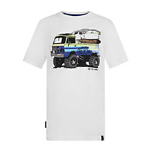 Buy Animal Boys' Surfari Truck T-Shirt, White Online at johnlewis.com