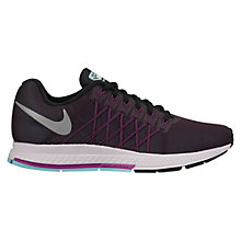 Buy Nike Air Zoom Pegasus 32 Women's Running Shoes, Black/Purple Online at johnlewis.com
