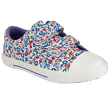 Buy John Lewis Children's Ellie Ditsy Floral Rip-Tape Trainers, Red Multi Online at johnlewis.com