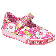 Buy Lelli Kelly Children's Dalia Dolly Rip-Tape Shoes, Fuchsia Online at johnlewis.com