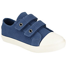 Buy John Lewis Children's Barney Canvas Rip-Tape Shoes Online at johnlewis.com