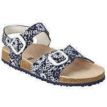 Buy John Lewis Children's Daisy Bloom Floral Print Sandals, Navy/White Online at johnlewis.com