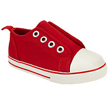 Buy John Lewis Children's Finlay Rip-Tape Shoes, Red Online at johnlewis.com