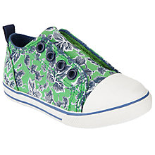 Buy John Lewis Children's Finlay Rip-Tape Shoes, Green Online at johnlewis.com