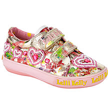 Buy Lelli Kelly's Children's Love Hearts Rip-Tape Shoes, Multi Online at johnlewis.com