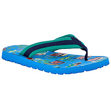 Buy John Lewis Children's Camper Van Print Flip Flops, Blue/Multi Online at johnlewis.com