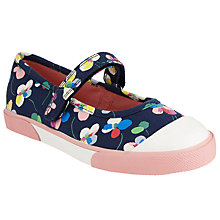 Buy John Lewis Children's Daisy Pansy Rip-Tape Shoes, Navy Multi Online at johnlewis.com