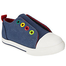 Buy John Lewis Children's Finlay Rip-Tape Trainers, Navy Online at johnlewis.com