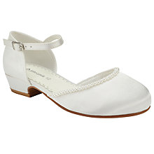 Buy John Lewis Children's Ankle Strap Pearl Heeled Shoes, Ivory Online at johnlewis.com