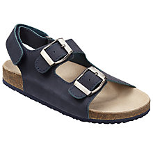 Buy John Lewis Children's Jimmy Buckle Sandals, Navy Online at johnlewis.com