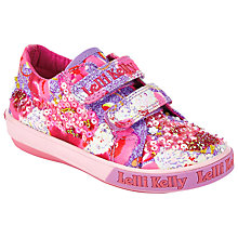 Buy Lelli Kelly Children's Lilac Fantasy Rip-Tape Shoes, Pink Online at johnlewis.com