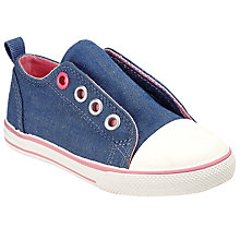 Buy John Lewis Children's Coco Eyelet Rip-Tape Canvas Shoes Online at johnlewis.com
