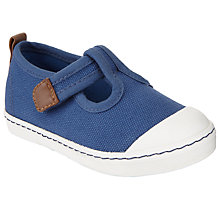 Buy John Lewis Children's Charlie T-Bar Shoes, Navy Online at johnlewis.com
