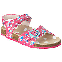 Buy John Lewis Children's Ditsy Floral Print Sandals, Pink/Multi Online at johnlewis.com
