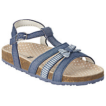 Buy John Lewis Children's Bow Denim Footbed Sandals, Blue Online at johnlewis.com