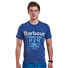 Buy Barbour Laundryman Wright T-Shirt, Inky Blue Online at johnlewis.com