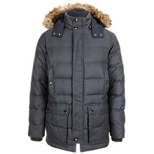 Buy Ted Baker Denio Quilted Parka Coat, Charcoal Online at johnlewis.com