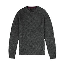 Buy Ted Baker T for Tall Elecray Textured Jumper, Charcoal Online at johnlewis.com