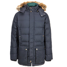 Buy Ted Baker Mentz Quilted Parka Coat, Navy Online at johnlewis.com