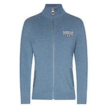 Buy Barbour International Knitted Zip-Up Jumper, Indigo Marl Online at johnlewis.com
